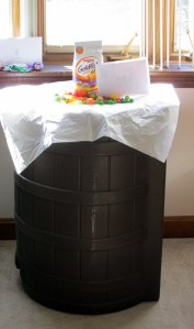rain barrel Easter basket!
