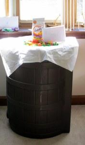 rain barrel Easter basket!