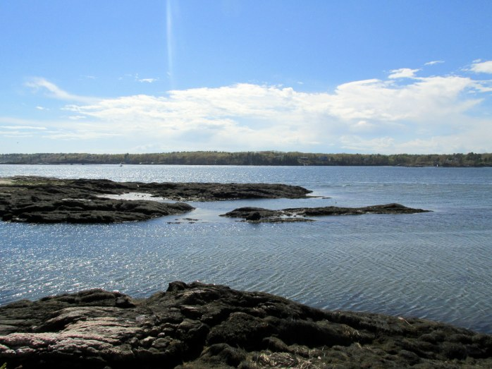 rocky islands in Sheepscot