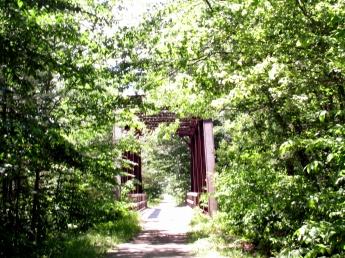 metal bridge in sunlight