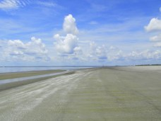 beach, clouds - south beach, Jekyll Island
