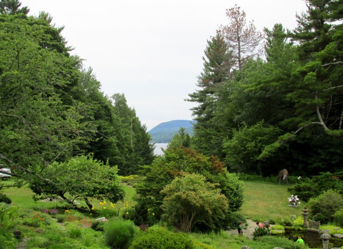 garden with Sunapee views