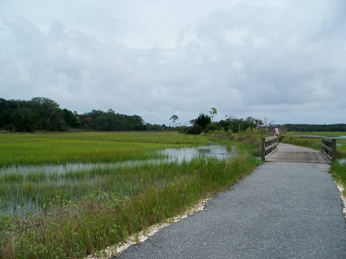 bike path at Clam Creek marsh, Sept. 2008
