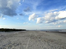 midbeach, evening, Jekyll Island