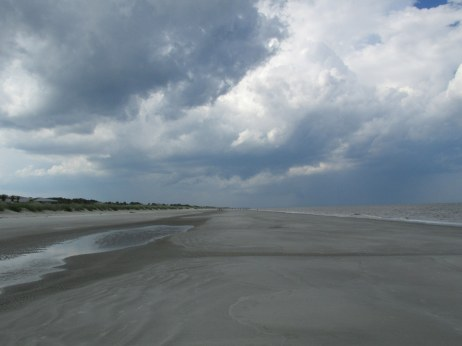 midbeach with storm clouds, Jekyll Island