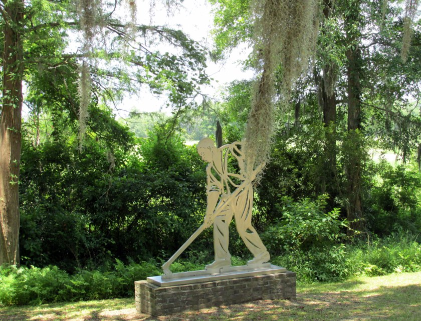rice fields slave statue