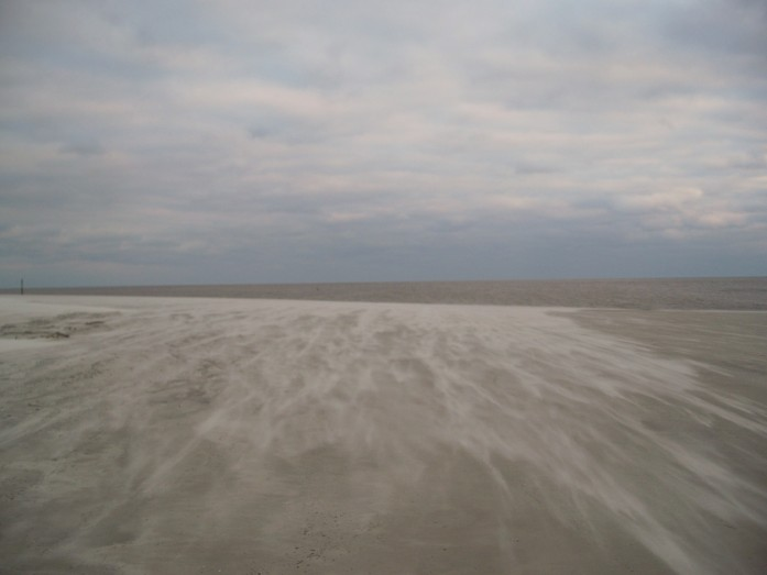 blowing sand, Jekyll Island, GA, 26 Dec 2010