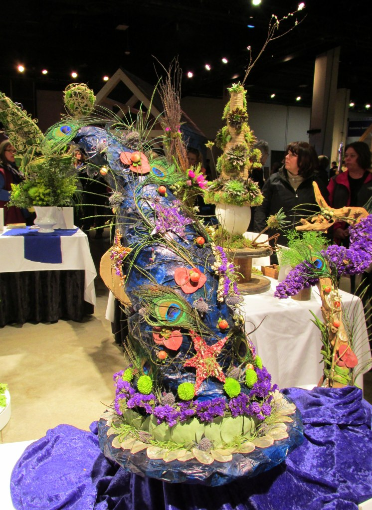 Florist Invitational Wizard Hats & Wands competition: blue wizard hat