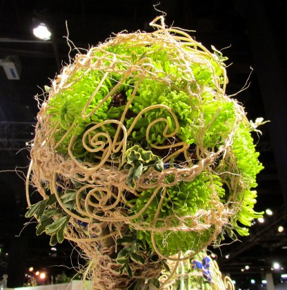 detail of a display at Florist Invitational Wizard Hats & Wands competition