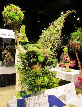 Florist Invitational Wizard Hats & Wands competition: large display