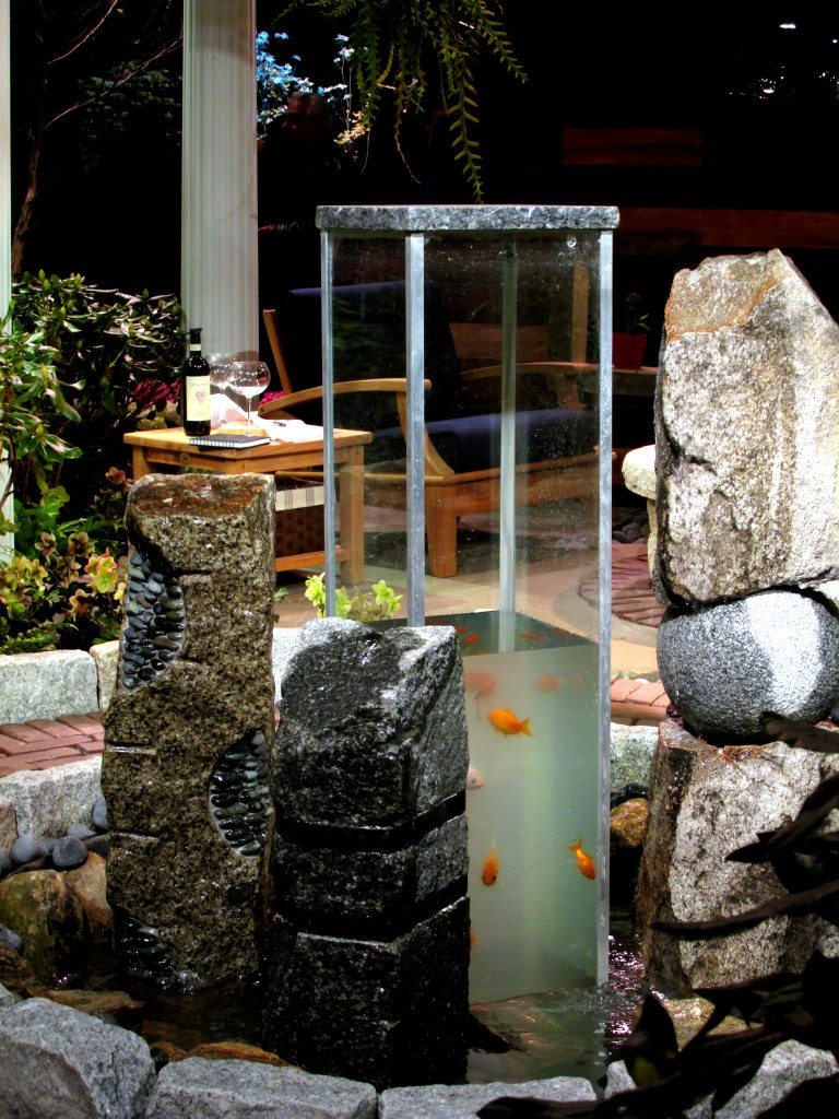 Rutland Nurseries display: vertical aquarium