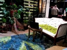 Kirsten VanDijk Interiors: rug, mossy loveseat, laptop