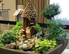 "Floral Design miniature Gardens: Tales of Enchantment: ""Tea with Tinkerbelle"""