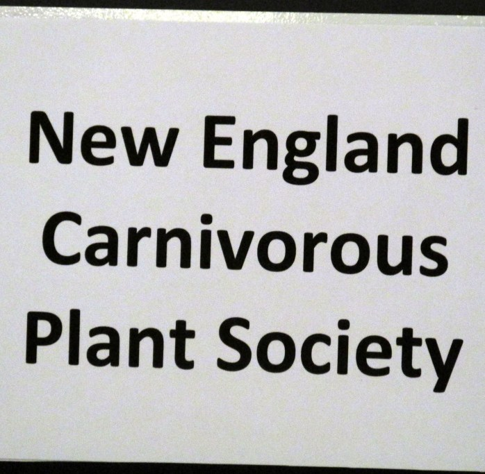 New England Carnivorous Plant Society sign