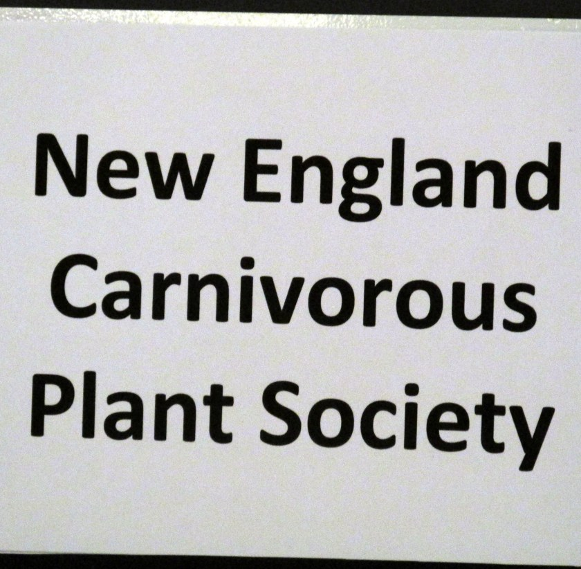 New England Carnivorous Plant Society sign
