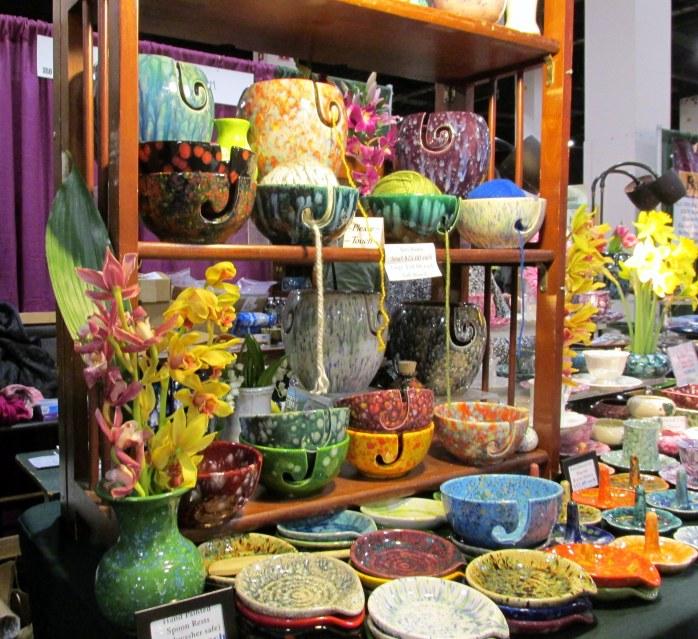 Vendor: a pottery vendor