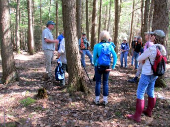 our group listening to forester, 6 May 2015