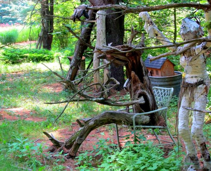 creature in chair in Dark Woods