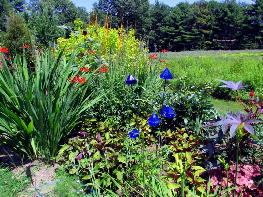 Garish Garden with blue deck gems
