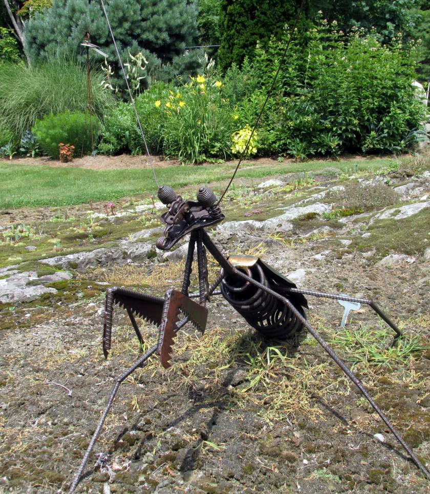 """Preying Mantis"" sculpture"