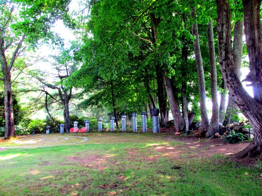 Spiral Garden, trees, sunlight