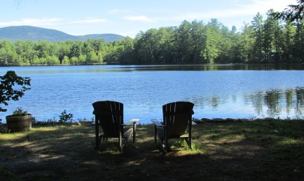 chairs by lake, Sept. 2013