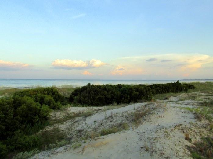 dunes, Jekyll Island, 8:15 pm, 27 June 2014
