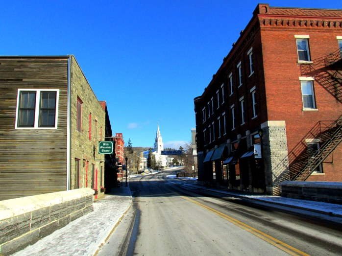 empty Main Street, Middlebury VT, Nov. 2013
