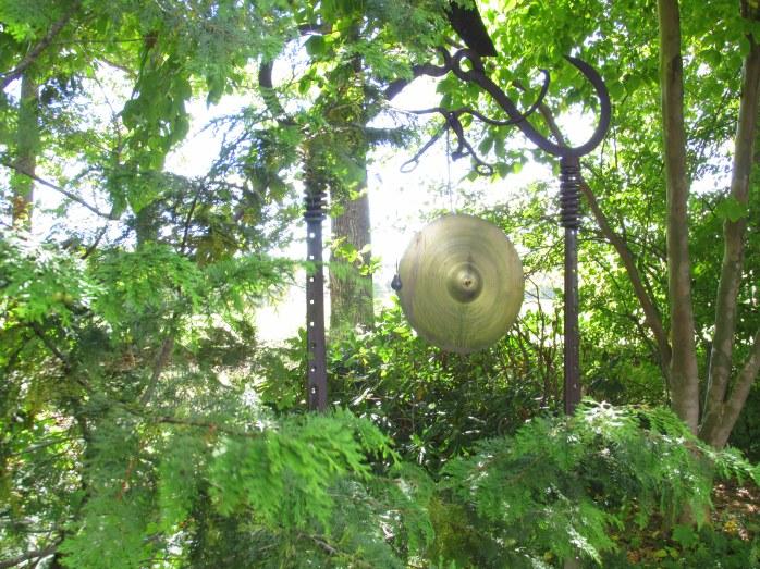gong in sunlight