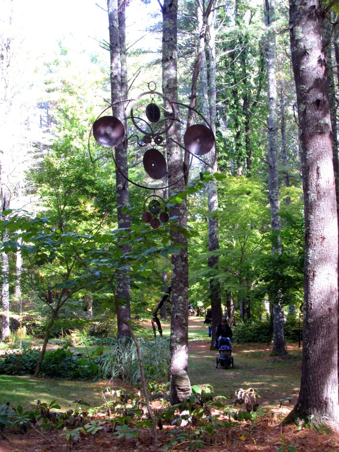 hanging sculpture near Petit Pond