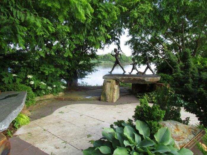 park along the Riverwalk, Wilmington, DE, June 2013