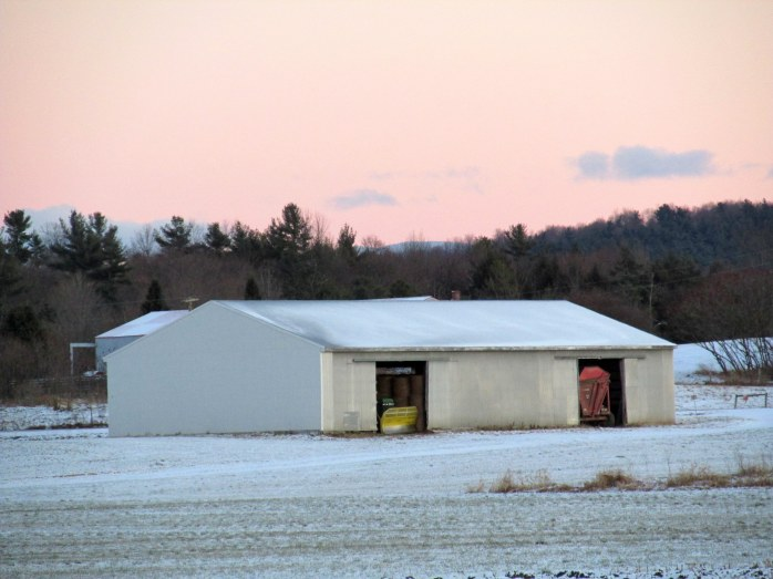 machine and hay shed, Jackson Trail, Weybridge VT, Nov. 2013