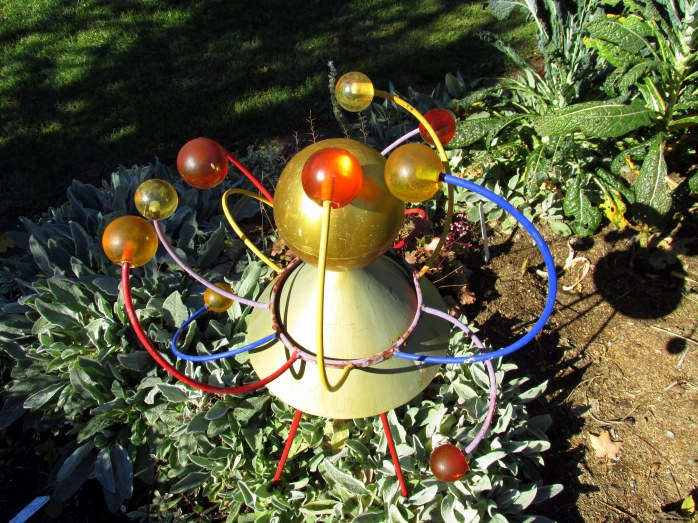 orbit-like sculpture in Garish Garden