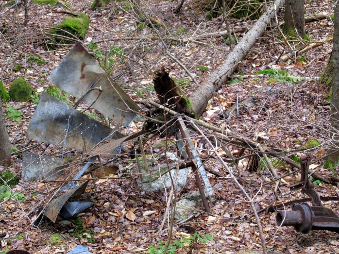 remains of old windmill, Knights Hill Nature Park, NH, May 2014