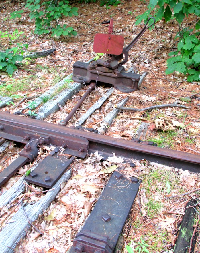 RR track switch, Andover, NH, Sept. 2015
