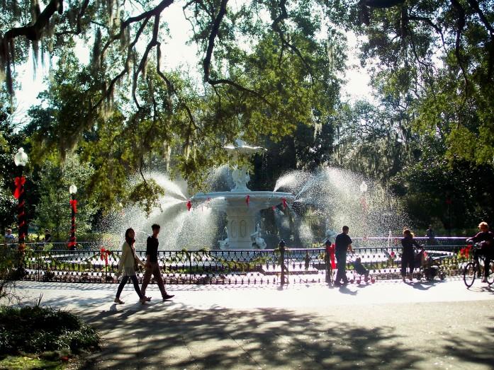 Forsyth Park, Savannah, GA, Jan. 2011