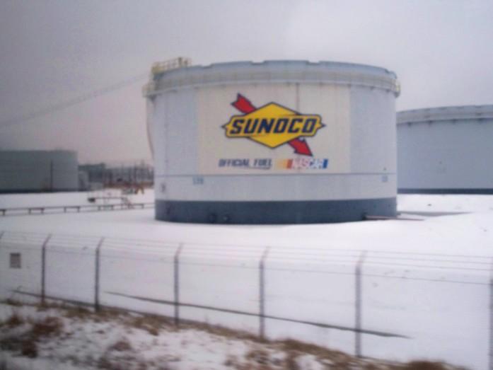 oil tank, Delaware, Feb 2008