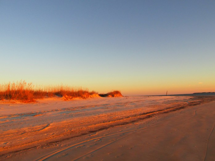 sunset on dunes, St. Andrews, Jekyll Island, 24 Dec 2013