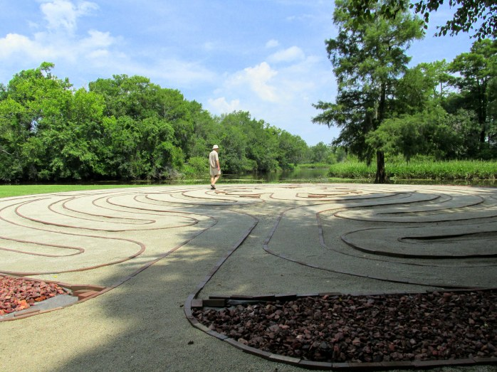 Brookgreen Gardens labyrinth, 22 June 2014