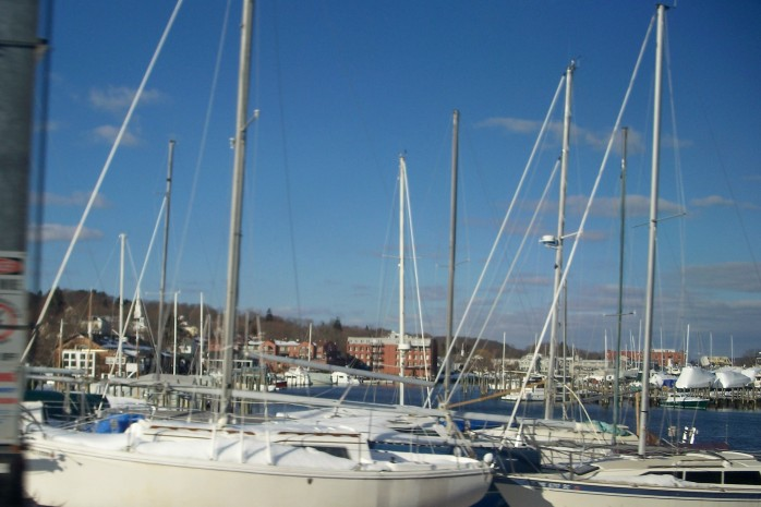 Mystic CT sailboats, Feb. 2011