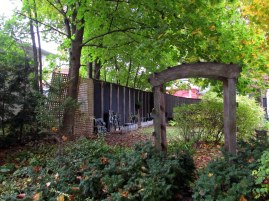 garden with archway, Oct. 2015