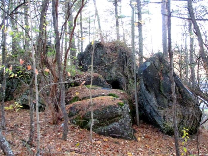 cave rocks, Murdock Preserve (TAM)