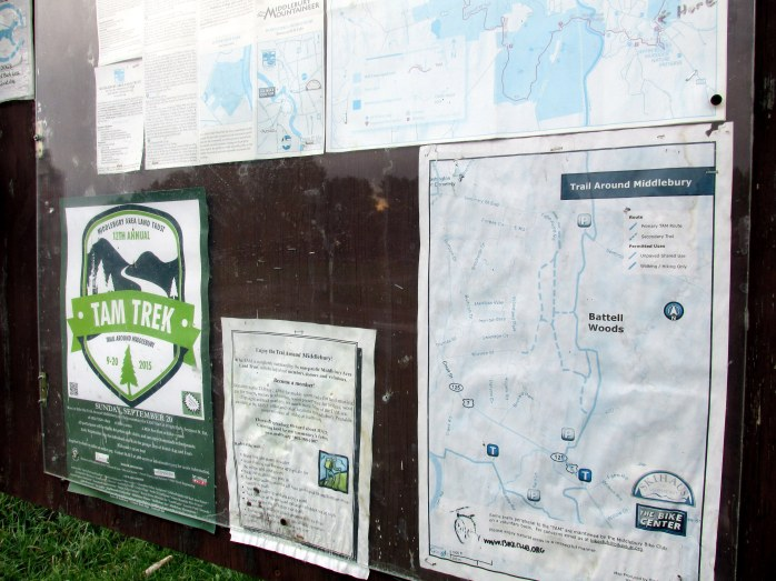 Battell Woods Trail kiosk (TAM)