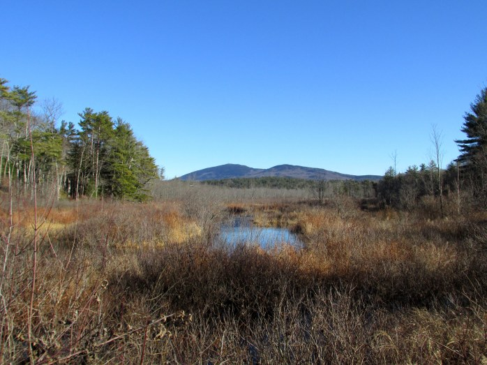 Mt Kearsarge view from Kezar Lake area, Sutton NH - 23 Nov