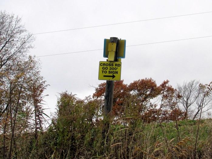 TAM train sign