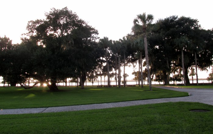 view to Jekyll Creek, historic district