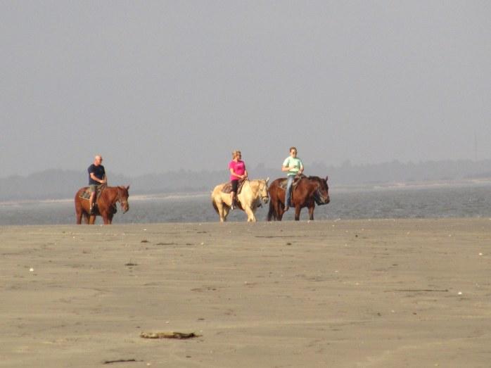horsebackridersbeachnorthbeachJekyll24Dec2015