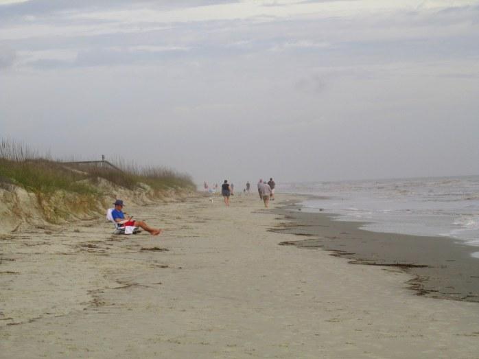 dunes and beach near high tide