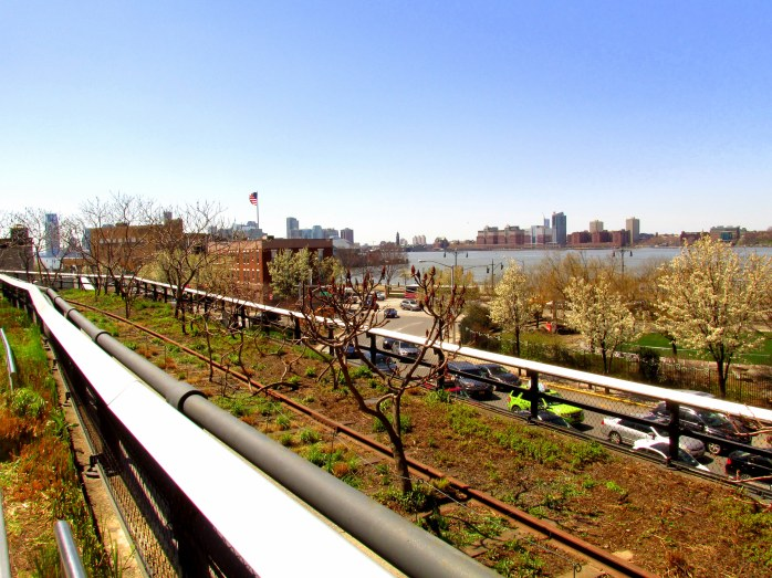 viewwithHudsonRiverHighLineNYC10April2016