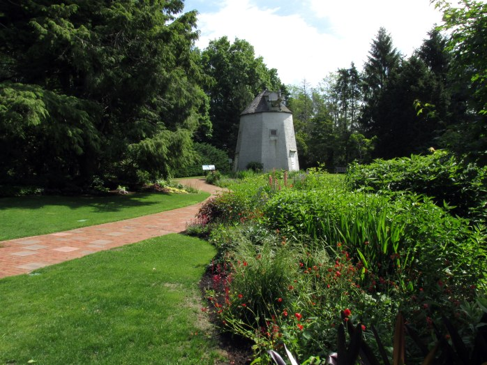 path through windmill garden